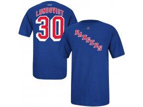 Dětské tričko Henrik Lundqvist New York Rangers NHL Name & Number (Velikost 4 roky, Distribuce USA)
