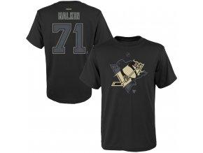 Dětské tričko Evgeni Malkin Pittsburgh Penguins NHL Name & Number (Velikost Dětské L (11 - 12 let), Distribuce USA)