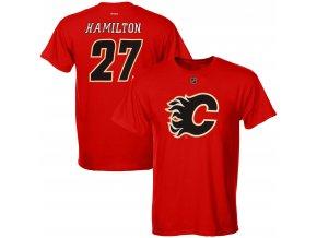 Dětské tričko Dougie Hamilton Calgary Flames NHL Name & Number (Velikost Dětské L (11 - 12 let), Distribuce USA)