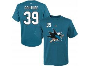 Dětské tričko Logan Couture San Jose Sharks NHL Name & Number (Velikost Dětské L (11 - 12 let), Distribuce USA)