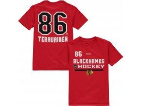 Dětské tričko Teuvo Teräväinen Chicago Blackhawks NHL Name & Number (Velikost Dětské L (11 - 12 let), Distribuce USA)