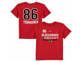 Dětské tričko Teuvo Teräväinen Chicago Blackhawks NHL Name & Number (Velikost 4 roky, Distribuce USA)
