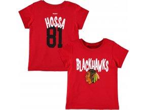 Dětské tričko Marián Hossa Chicago Blackhawks NHL Name & Number (Velikost Batole 2T (2 roky), Distribuce USA)