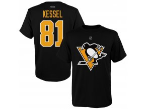 Dětské tričko Phil Kessel Pittsburgh Penguins NHL Name & Number (Velikost Dětské L (11 - 12 let), Distribuce USA)