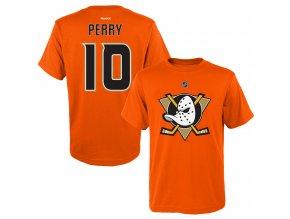Dětské tričko Corey Perry Anaheim Ducks NHL Name & Number (Velikost Dětské L (11 - 12 let), Distribuce USA)