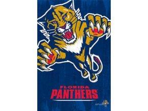 NHL Plakát Florida Panthers Team Logo Cut