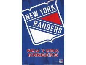NHL Plakát New York Rangers Team Logo Cut
