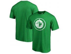 Tričko Winnipeg Jets St. Patrick's Day White Logo