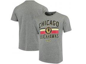 Tričko Chicago Blackhawks CCM Classic Stripe Tri-Blend