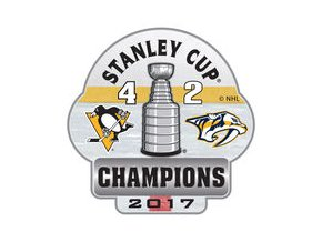 Odznak Pittsburgh Penguins 2017 Stanley Cup Champions Score Pin