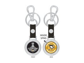 Přívěšek Pittsburgh Penguins 2017 Stanley Cup Champions Spinning Keychain