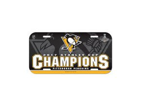 Pittsburgh Penguins WinCraft 2017 Stanley Cup Champions Plastic License Plate