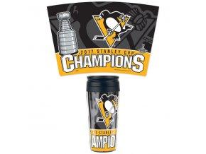 Hrnek Pittsburgh Penguins WinCraft 2017 Stanley Cup Champions 16oz. Contour Travel Mug