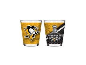 Sklenička Pittsburgh Penguins 2oz. 2017 Stanley Cup Champions Sublimated Shot Glass