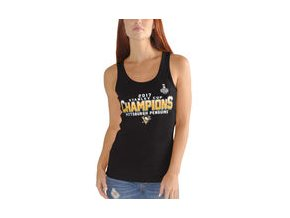 Dámské tričko Pittsburgh Penguins G-III 4Her by Carl Banks Womens 2017 Stanley Cup Champions Tank Top - Black