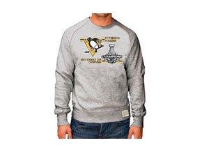 Mikina Pittsburgh Penguins Original Retro Brand 2017 Stanley Cup Champions Raglan Long Sleeve Crew Sweatshirt - Gray