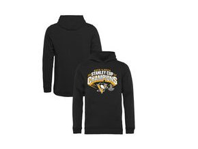 Dětská mikina Pittsburgh Penguins Fanatics Branded Youth 2017 Stanley Cup Champions Slapshot Pullover Hoodie - Black