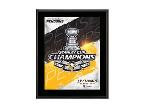 "Pittsburgh Penguins Fanatics Authentic 2017 Stanley Cup Champions 10.5"" x 13"" Champions Logo Sublimated Plaque"
