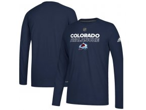 Tričko Colorado Avalanche Authentic Ice Climalite Ultimate L/S