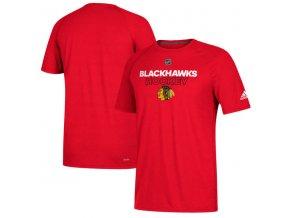 Tričko Chicago Blackhawks Authentic Ice Climalite Ultimate S/S Red