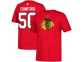 Tričko #50 Corey Crawford Chicago Blackhawks