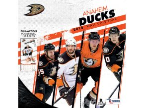 Kalendář Anaheim Ducks 2018 Team Wall