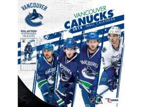 Kalendář Vancouver Canucks 2018 Team Wall