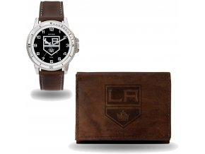 Set hodinky a peněženka  Los Angeles Kings NHL Sparo
