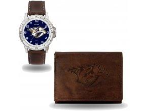 Set hodinky a peněženka  Nashville Predators NHL Sparo