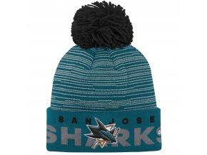 Dětská zimní čepice  San Jose Sharks NHL Team Logo Cuffed