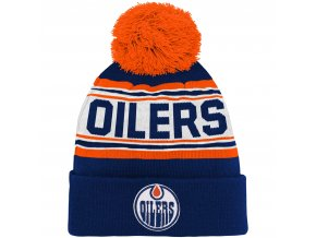 Dětská zimní čepice  Edmonton Oilers NHL Wordmark Cuffed
