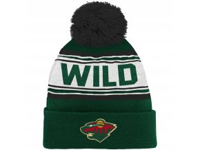 Dětská zimní čepice  Minnesota Wild NHL Wordmark Cuffed