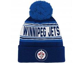 Dětská zimní čepice  Winnipeg Jets NHL Wordmark Cuffed