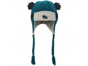 Beranice zimní čepice  San Jose Sharks NHL Stripe Ears Trooper