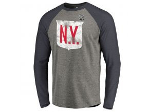 Tričko NHL Winter Classic 2018 New York Rangers Vintage Tri-Blend Long Sleeve Raglan