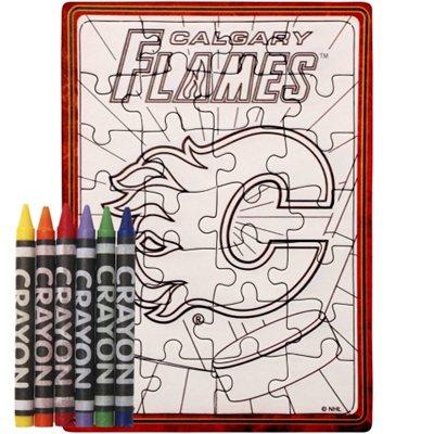 Calgary Flames puzzle s vlastním vybarvením