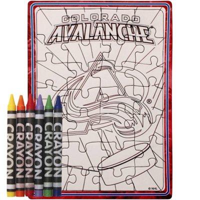 Colorado Avalanche puzzle s vlastním vybarvením