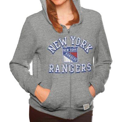 Original Retro Brand Dámská mikina New York Rangers Tri-Blend Full Zip Velikost: S