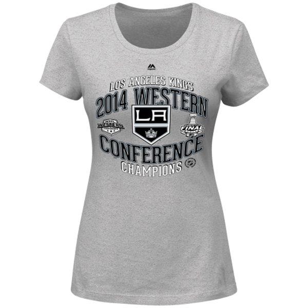 Majestic Dámské tričko Los Angeles Kings 2014 Western Conference Champions Five Hole Velikost: S