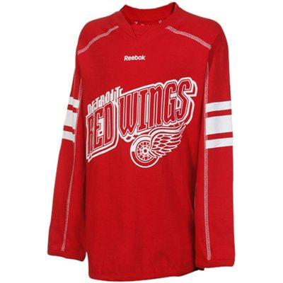 Reebok Dětské dívčí tričko Detroit Red Wings Colorblocked - dlouhý rukáv Velikost: S