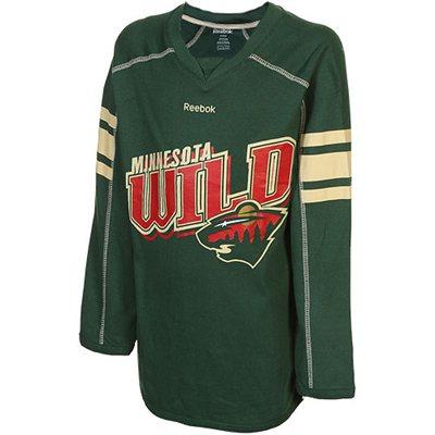 Reebok Dětské dívčí tričko Minnesota Wild Colorblocked - dlouhý rukáv Velikost: XL