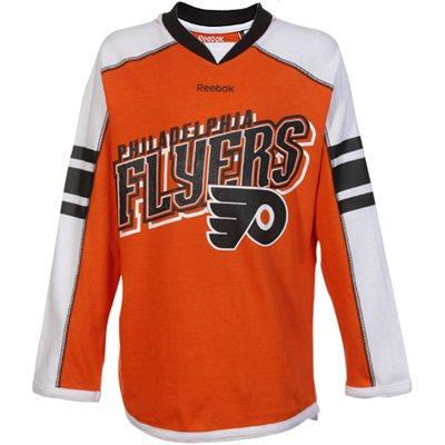 Reebok Dětské dívčí tričko Philadelphia Flyers Colorblocked - dlouhý rukáv Velikost: S