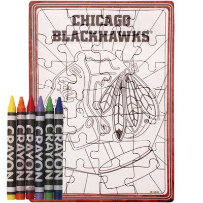 Chicago Blackhawks puzzle s vlastním vybarvením
