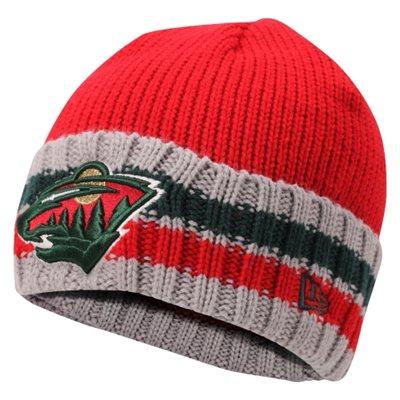 NHL čepice Minnesota Wild New New Era Striper Beanie