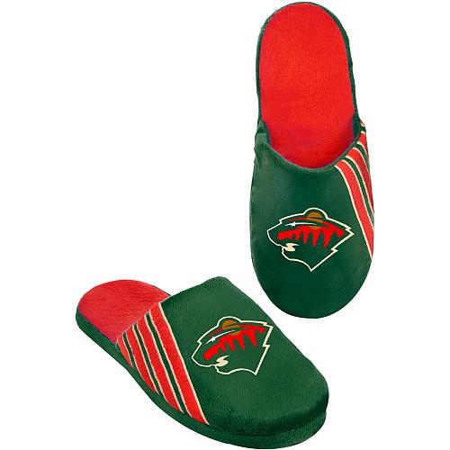 Forever Collectibles Pantofle - Team Stripe - Minnesota Wild Velikost: S