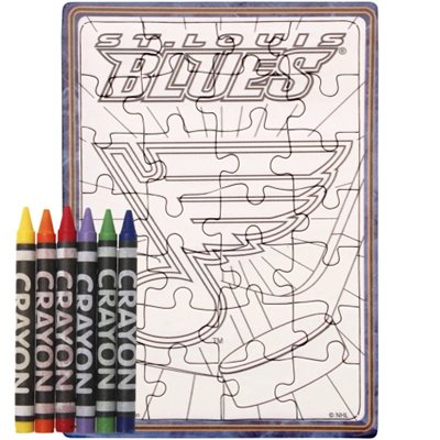St. Louis Blues puzzle s vlastním vybarvením