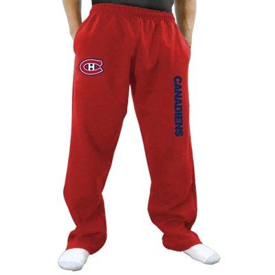 Tepláky Montreal Canadiens Two Hit Fleece Pants - červené Velikost: S