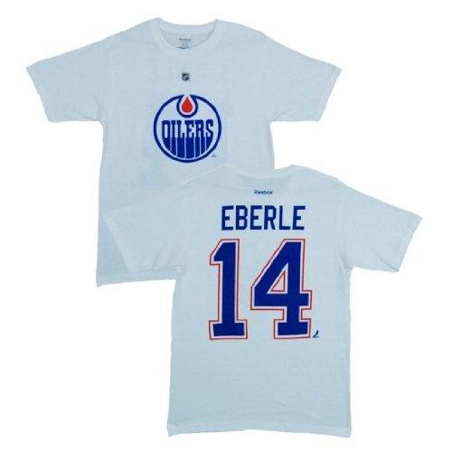 Reebok Tričko - #14 - Jordan Eberle - Edmonton Oilers - bílé Velikost: S