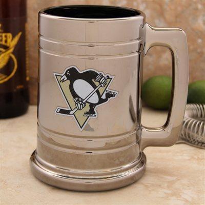 Třetinková sklenice Pittsburgh Penguins Chrome