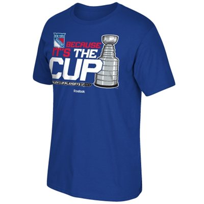 Reebok Tričko - New York Rangers - Because it's the Cup - Stanley Cup Playoffs 2015 Velikost: L